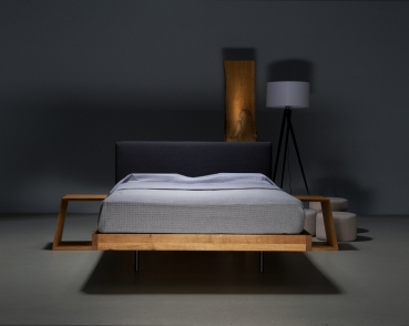 SMOOTH Elegantes Modernes Bett Design Massiv Aus Holz Polster Kopfteil